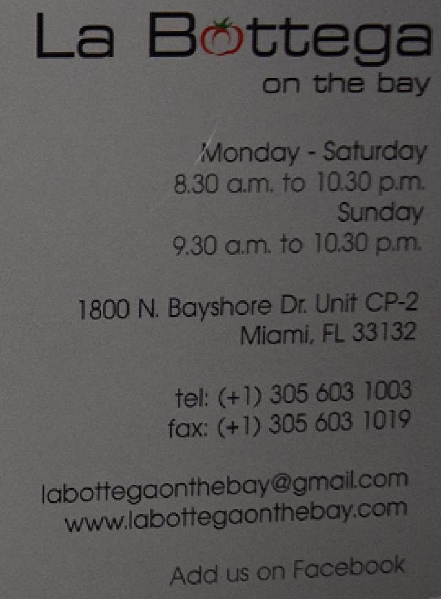 La Bottega on the bay Miami