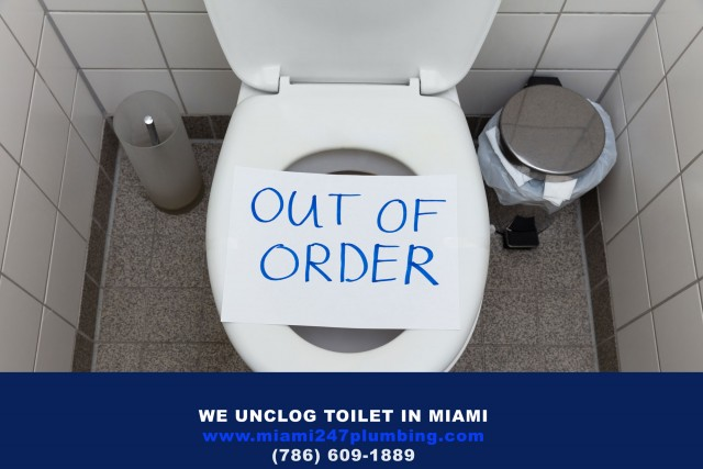 Unclog Toilet in Miami - 305 440-0878