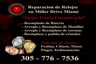 Reparacion de Relojes en Miller Drive Miami