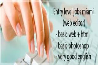 Entry level jobs miami (web editor)