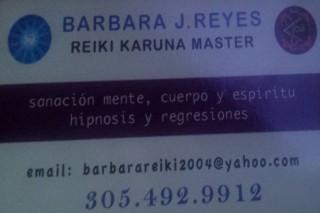 Barbara J Reyes Reiki Karuna Master en Miami